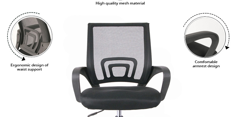 cheap high quality mid back mesh office chair