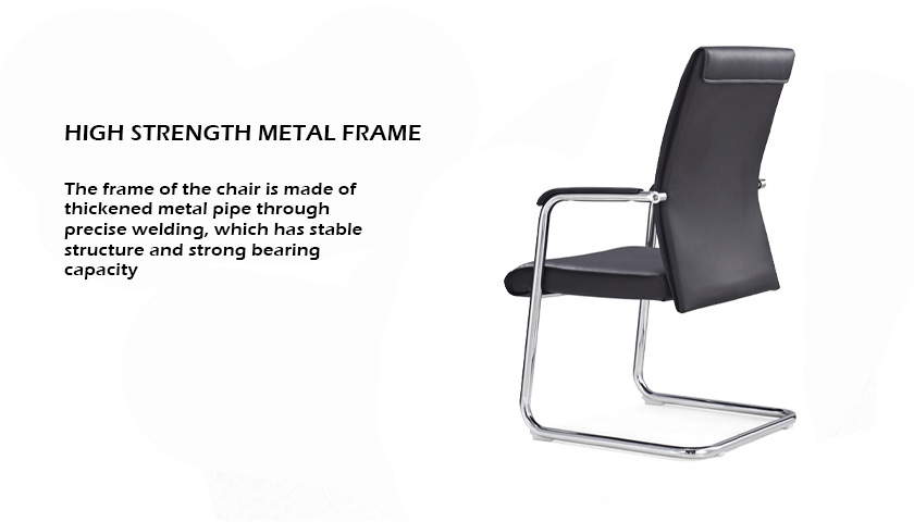 wholesale high back balck leather visitor office chair