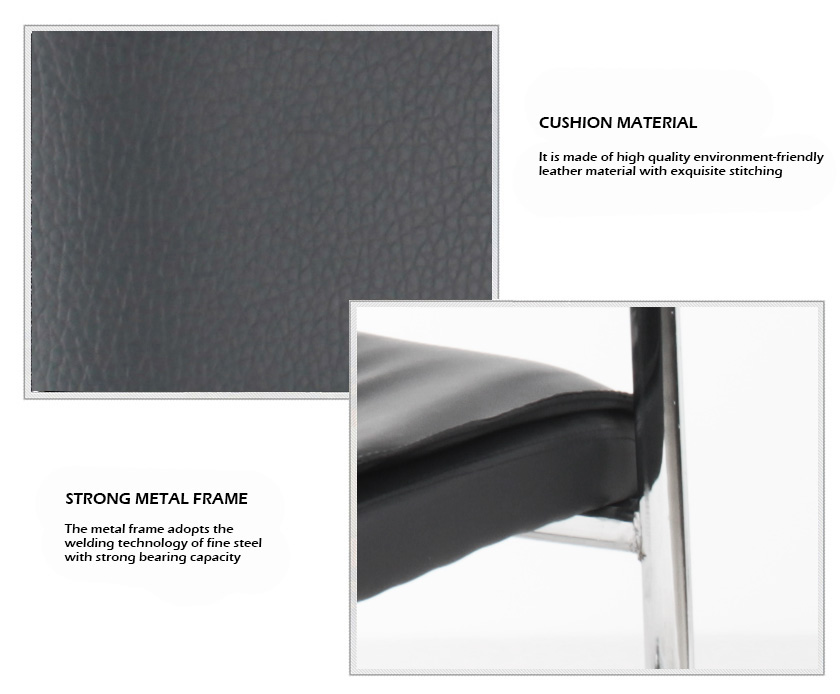 modern black leather visitor office chair on sale