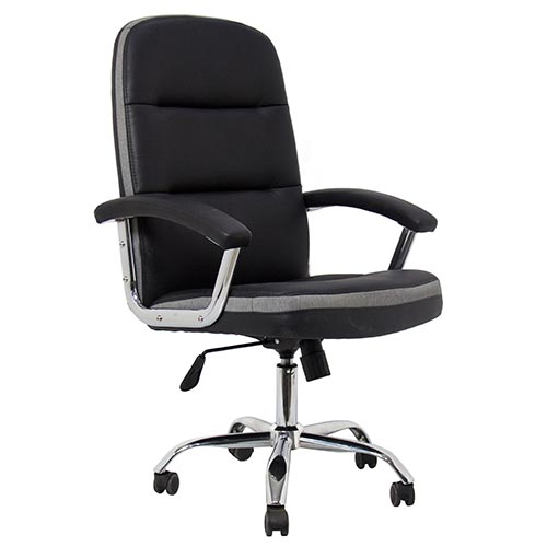 Leather And Mesh Office Visitor Chair