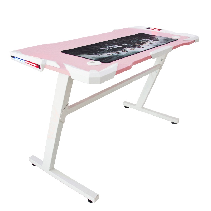 Folding computer table notebook computer environmental protection pink E-sports table Internet cafe home free sample