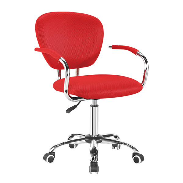 Red Bar Stool with Armrest BJH-B07