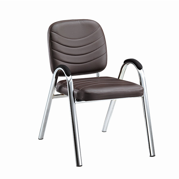Low Price Brown Leather Visitor Chair BY-016