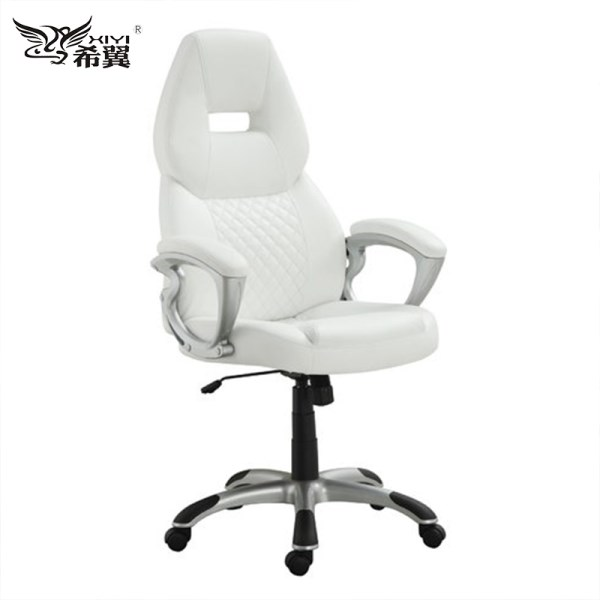 White leather office chair from China LH81