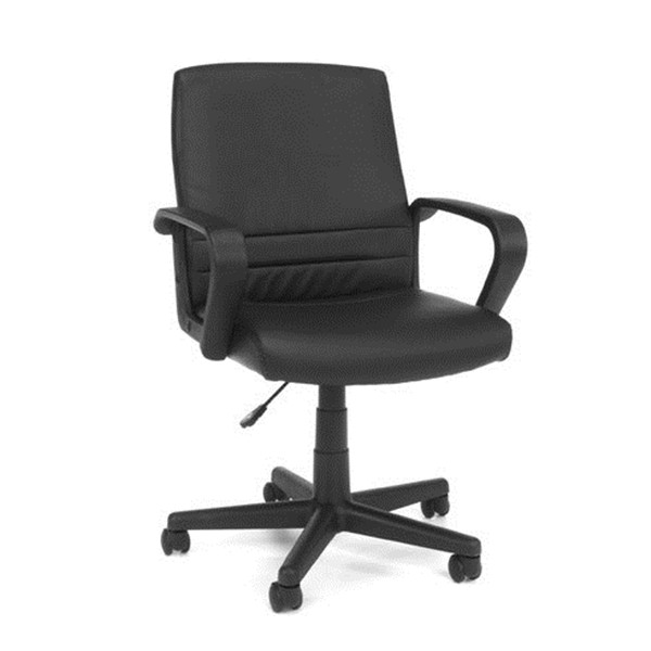 Black ergonomic leather office chair factory China-LH55