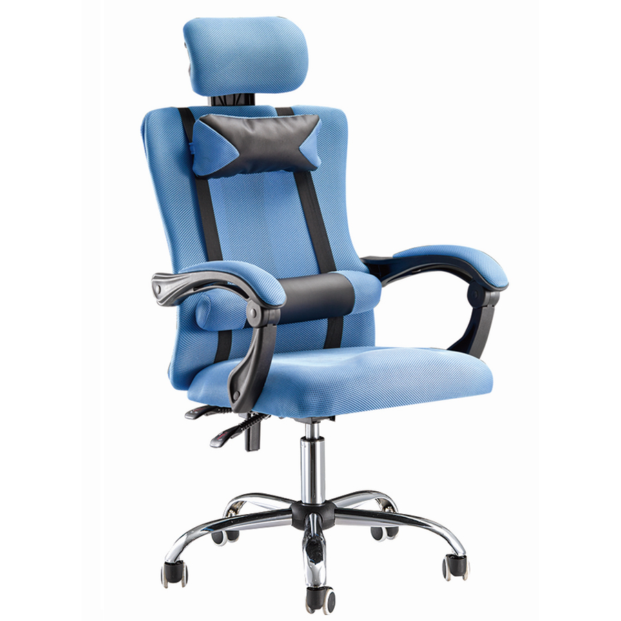 mesh back office chair with footrest