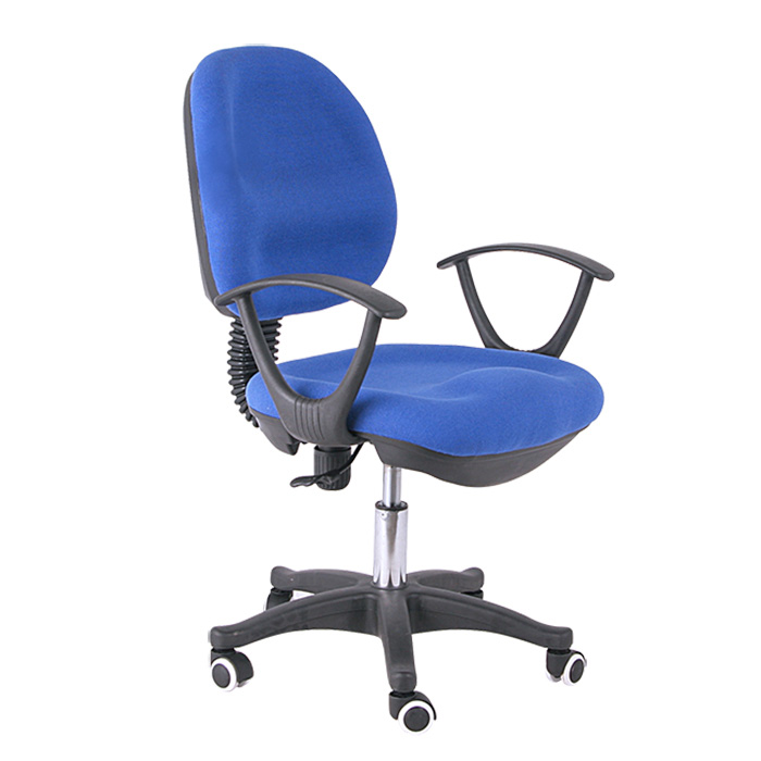 high quality swivel lift blue fabric office chair for staff on sale