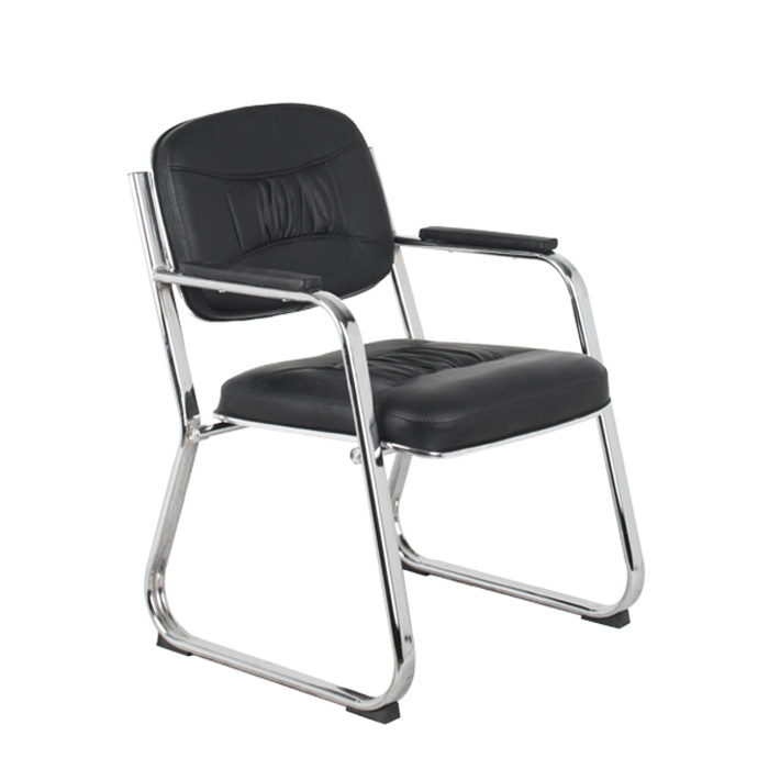 high quality low back leather visitor office chair