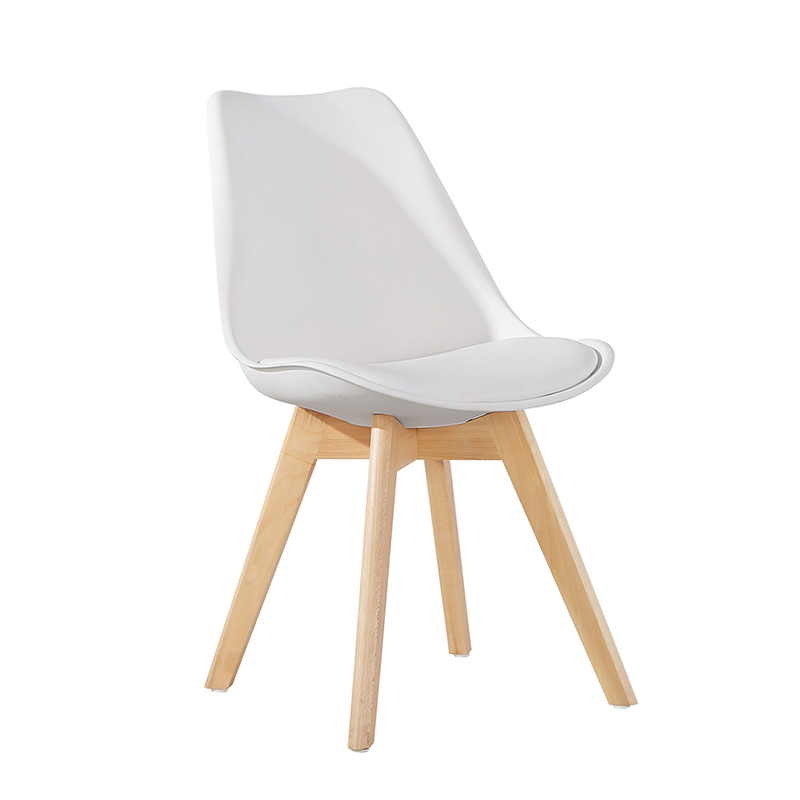 wholesale cheap wood legs plastic dining room Tulip chair