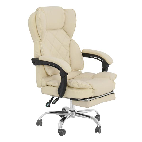 best cream swivel leather office chair