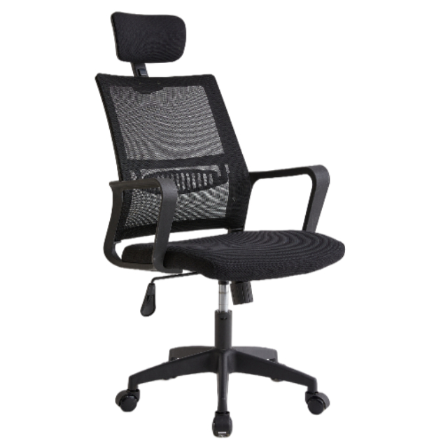 hot sale swivel office chair with headrest adjustable high back stylish mesh ergonomic office chair