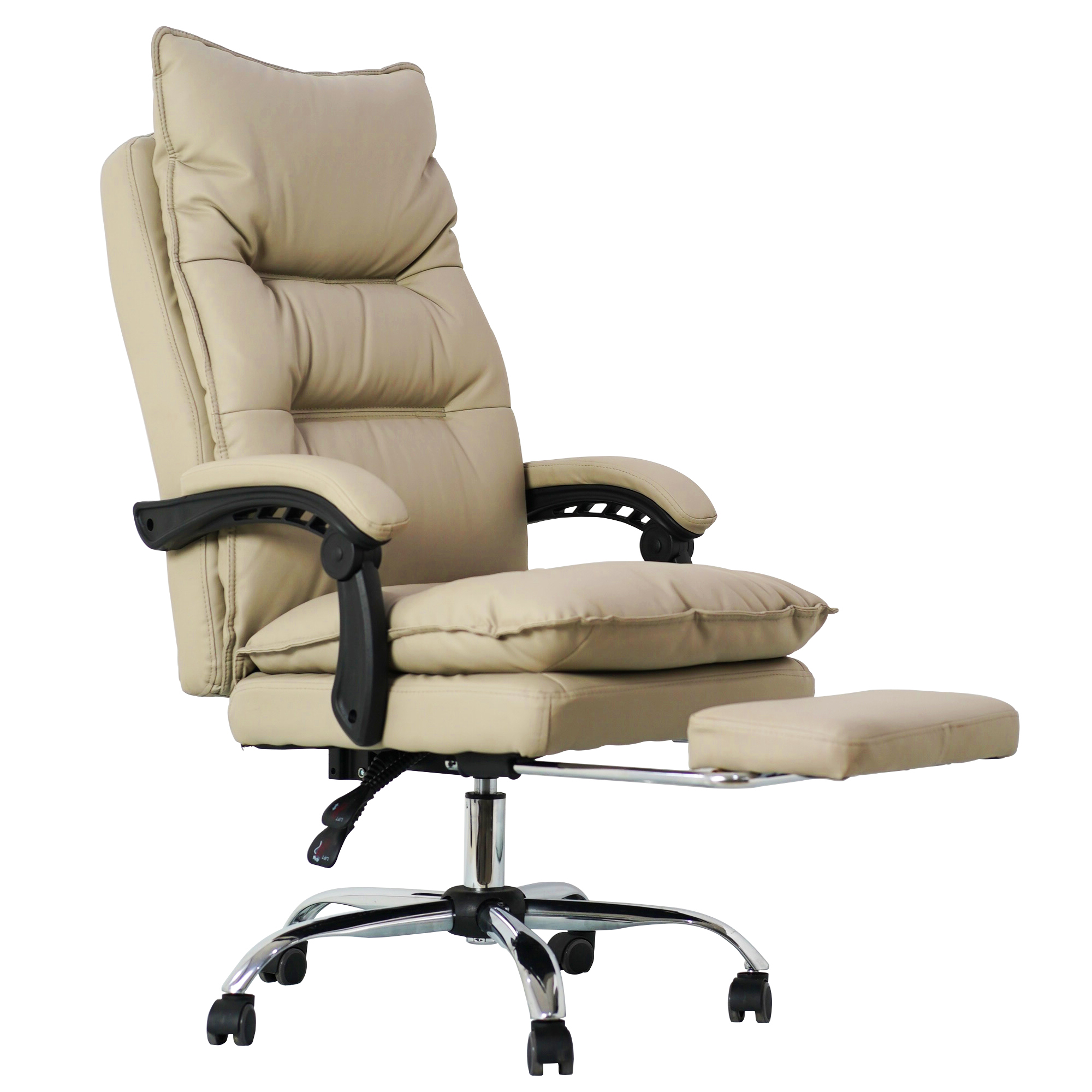 Hot sale New design Napa leather black color swivel Ergonomics office chair made in china