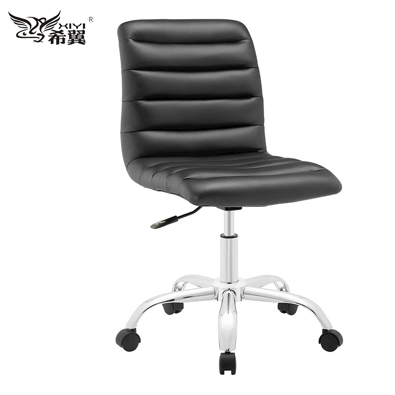 new design Gray leather executive armless small computer desk office chair