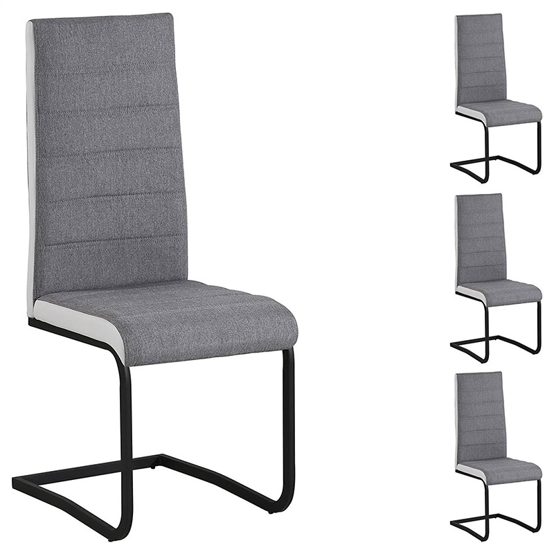 Italian fabric black steel dining chairs high quality dining chair Chinese factory production dining chair dining chair
