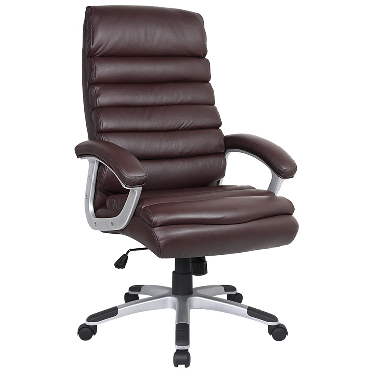 High grade leather office chair can be rotated 360 degrees and adjusted up and down. Cheap office chair is wholesale made in China